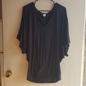 Wilfred large black flowy blouse top
